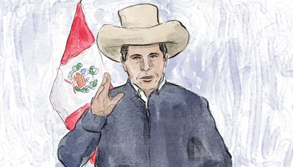"""""""¿Por qué Castillo se reunió con los dictadores de Cuba y Venezuela durante su viaje a México y no con ningún alto funcionario de Estados Unidos durante su viaje a Washington y Nueva York?""""(Ilustración: Giovanni Tazza)."""