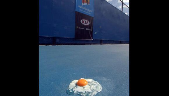 Djokovic cocinó un huevo en la cancha del Abierto de Australia