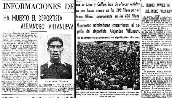 El Comercio en 1944 sobre la muerte de Alejandro Villanueva