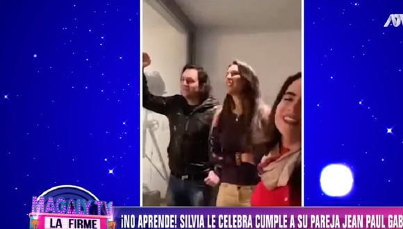 Silvia Cornejo y Jean Paul Gabuteau se lucen juntos pese a incidente en el mes de julio. (Foto: Captura Magaly TV: La Firme)