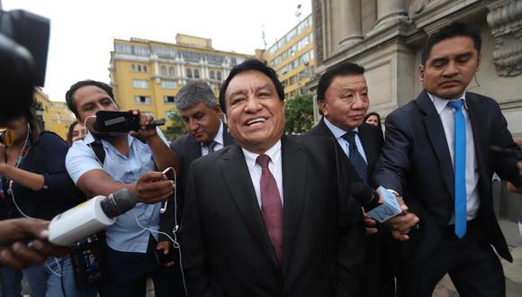 El Ministerio Público ha solicitado 36 meses de prisión preventiva para José Luna Gálvez, fundador del partido Podemos Perú. (Foto: El Comercio)