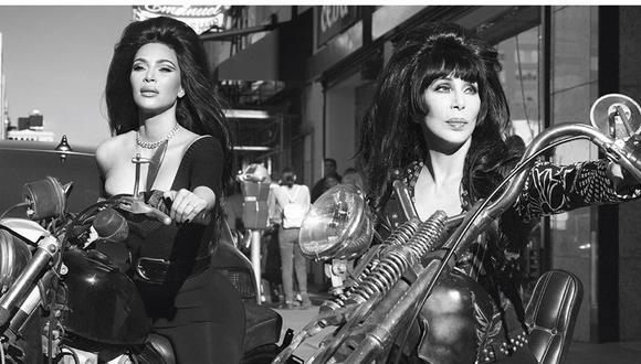 La popular kim Kardashian publicó en Instagram una serie de fotos al lado de la cantante Cher. (Foto: Instagram)