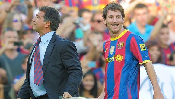Joan Laporta ya ha sido presidente del Barcelona cuando Messi lo ganaba todo. (Foto: AFP)