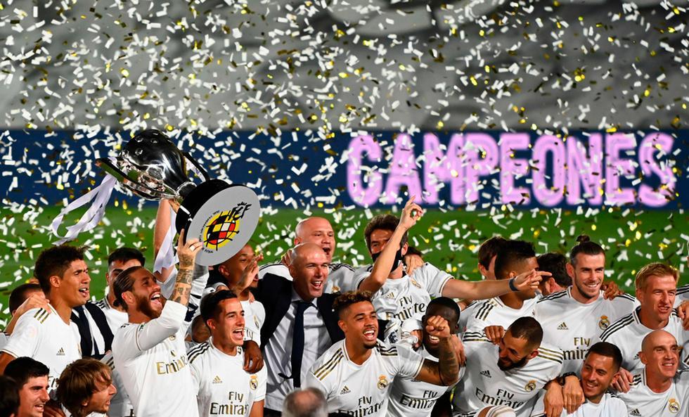 Real Madrid campeón: así celebró el equipo de Zidane tras ganar LaLiga | Foto: AP/AFP/EFE
