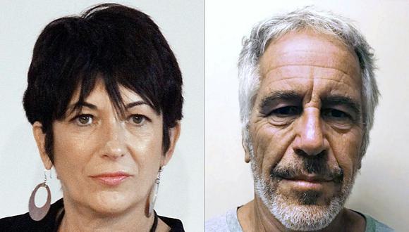 Una combinación de imágenes creadas el 2 de julio de 2020 que muestra a Ghislaine Maxwell y a Jeffrey Epstein. (AFP).