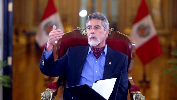 """""""La luna de miel del naciente gobierno de Francisco Sagasti parece estar llegando a su fin"""". (Foto: Presidencia)"""