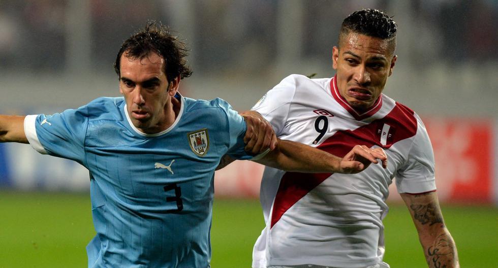 Paolo Guerrero y Diego Godín jugarán un partido aparte en el Perú vs. Uruguay. (Foto: AFP)