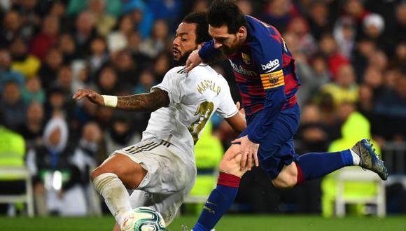 Barcelona ese el puntero de la Liga Santander seguido por el Real Madrid. (Foto: AFP)