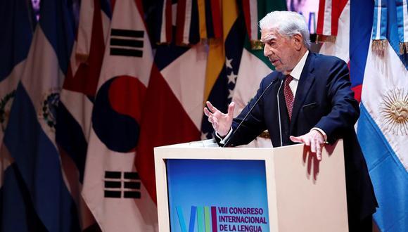 Mario Vargas Llosa durante su discurso en la sesión inaugural del VIII Congreso Internacional de la Lengua Española (CILE). (Foto: EFE)