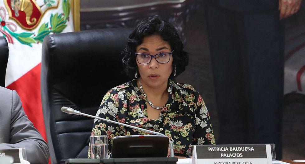 Patricia Balbuena salió del Ministerio de Cultura en noviembre del 2018.