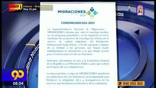 Migraciones investiga filtración de información de figuras públicas