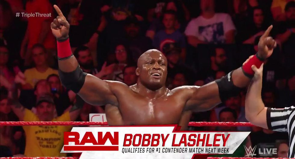 WWE RAW se celebró desde el Keybank Center de Buffalo, New York. En triple amenaza, Bobby Lashley derrotó a Seth Rollins y Elías. (Foto: WWE)