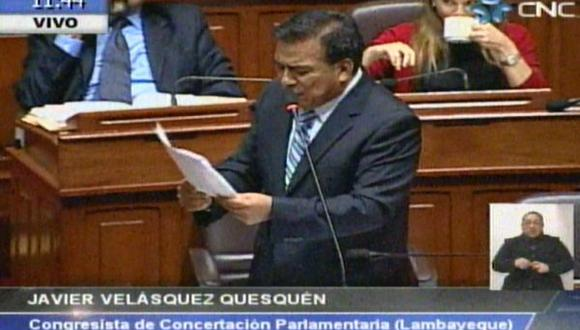 Velásquez: Este gobierno también indultó a narcotraficantes