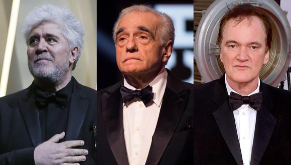 """Pedro Almodóvar con """"Dolor y Gloria"""", Martin Scorsese por """"The Irishman"""" y Quentin Tarantino con """"Once Upon a Time in Hollywood"""" buscarán una nominación este lunes. (Foto: Agencia)"""