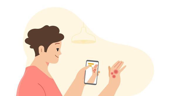 Herramienta de asistencia dermatológica basada en IA. (Imagen: Google).