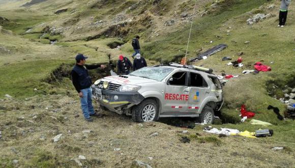 Patrullero cayó a abismo en Chumbivilcas: dos policías murieron