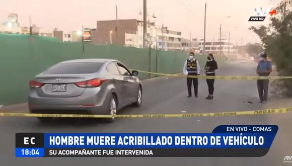 Steven Amaiqui Punil (33) fue asesinado a balazos en el interior de su vehículo cuando se desplazaba por la cuadra 54 de la avenida Universitaria. (Foto: captura de video ATV)