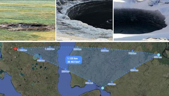 [MAPA] La zona donde están los misteriosos cráteres gigantes