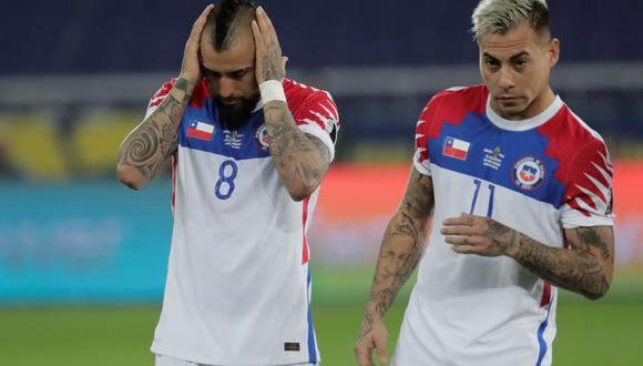Arturo Vidal y Eduardo Vargas estarán desde el arranque. EFE/ANTONIO LACERDA