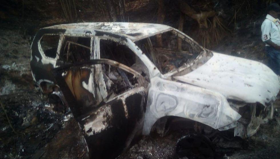 La política liberal colombiana, Karina García, fue asesinada junto a otros 5 acompañantes. Los cuerpos de las víctimas fueron  incinerados dentro del vehículo en el que se movilizaban. (Foto: Twitter @DefensoriaCol)