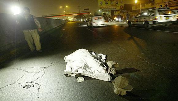 Ate: costurero fue encontrado muerto en la vía pública