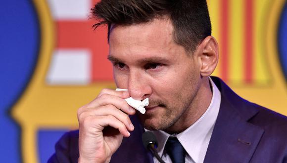Lionel Messi se despidió del Barcelona en medio de lágrimas. | Foto: AFP