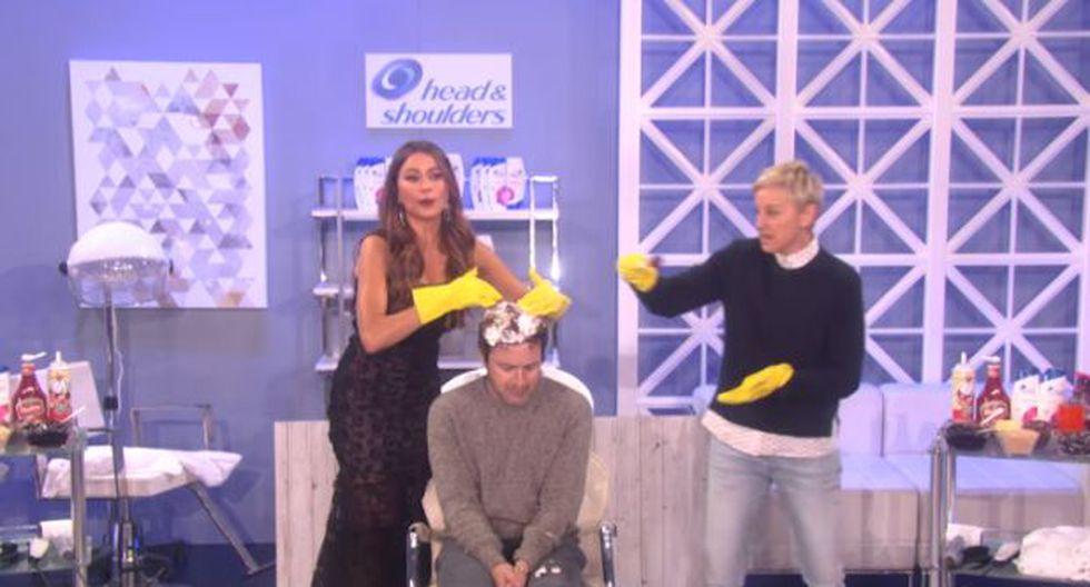 Ellen DeGeneres y Sofía Vergara juegan broma a productor