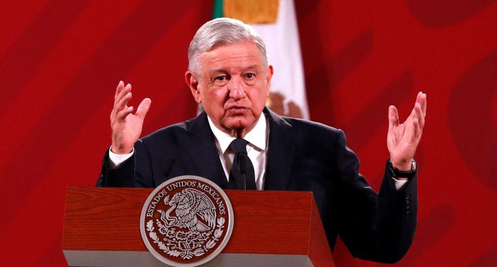 El presidente de México, Andrés Manuel López Obrador (AMLO), habla durante su conferencia de prensa matutina en la que informa, entre otros temas, sus conclusiones del viaje oficial a Estados Unidos. (EFE/ Jorge Núñez).