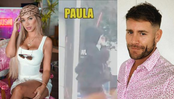 Paula Manzanal y 'Pancho' Rodríguez fueron vistos saliendo de sus departamentos. (Foto: @paulamanzz/Captura Willax TV/@panchitor_).
