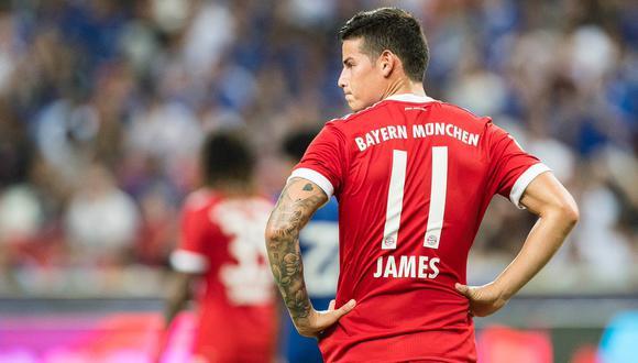 James Rodríguez volvió a ser titular con el Bayern Múnich. El colombiano brindó una genial asistencia que generó la conquista de Serge Gnabry ante el Hertha Berlín. (Foto: AP)