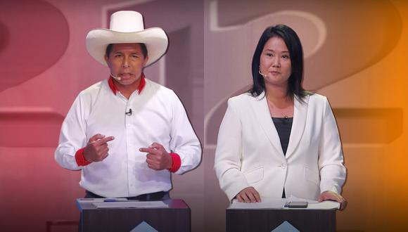 Pedro Castillo y Keiko Fujimori disputarán la segunda vuelta de las Elecciones Generales 2021. (Composición: El Comercio)