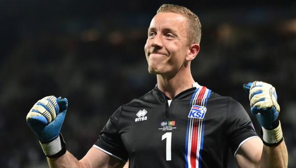 Hannes Þór Halldórsson: portero islandés que juega en el Randers FC de Dinamarca. (Foto: Agencias)