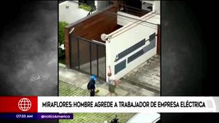 Miraflores: sujeto agredió a trabajador de empresa eléctrica que le cortó la luz por deuda