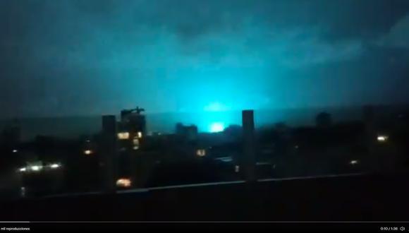 Durante el terremoto del martes en Ciudad de México se observaron luces. (@chematierra / Twitter).