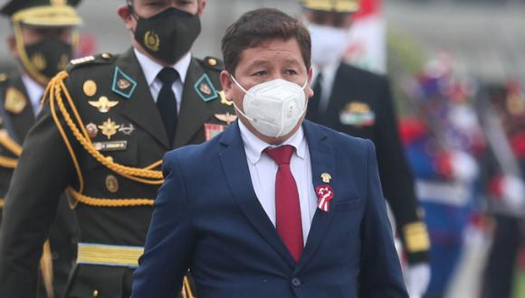 Guido Bellido juró al cargo de primer ministro este jueves 29 de julio. (foto: Presidencia Perú)