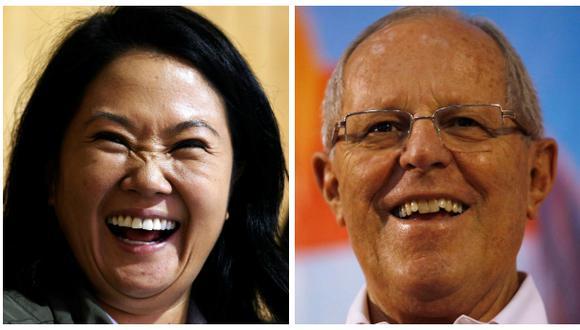 Keiko Fujimori y Pedro Pablo Kuczynski se disputan la Presidencia del Perú en un conteo de infarto. (Reuters).
