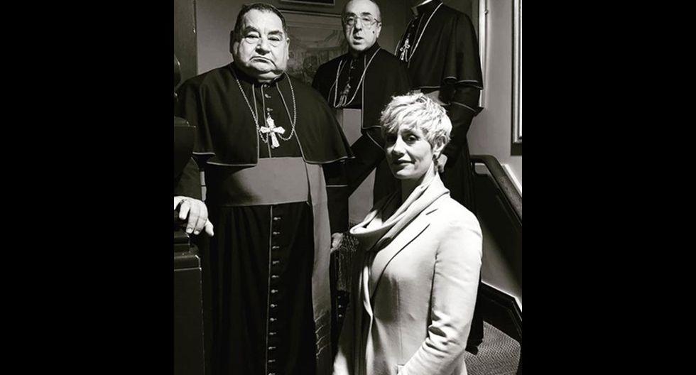 """Paolo Sorrentino y Ramón García en el set de """"The New Pope"""". (Foto: Instagram)"""