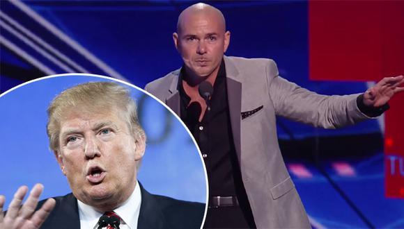 """Pitbull le advierte a Donald Trump: """"Cuidado con el Chapo"""""""