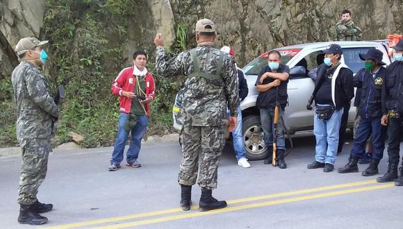 Las entradas al Vraem por las zonas de Ccano y Tutumbaro y el puesto de control de Machente han empezado a ser controladas. (Foto: Jorge Quispe)