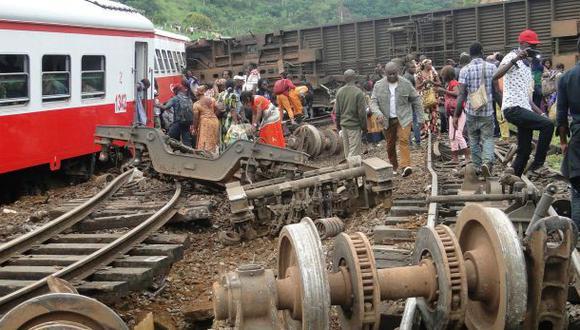 Camerún: Sube a 70 los muertos tras descarrilamiento de tren