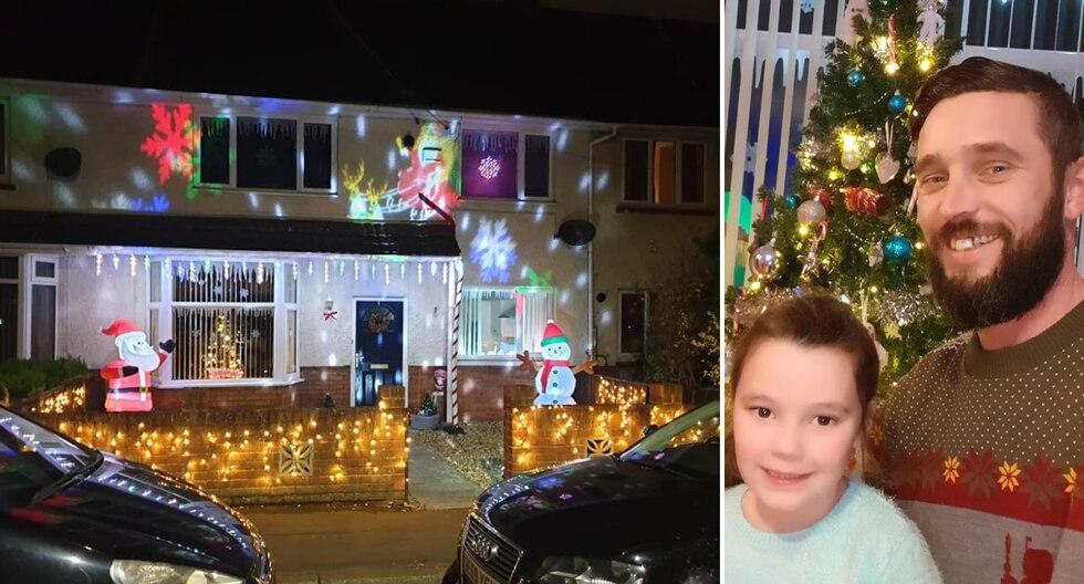 Una padre de familia sorprendió al mundo por su original respuesta a las críticas de vecinos hacia su decoración navideña. (Foto: Billy Morgan en Facebook)