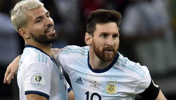 Aguero y Messi