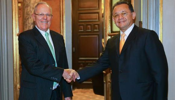 PPK recibió en Palacio de Gobierno al contralor Edgar Alarcón