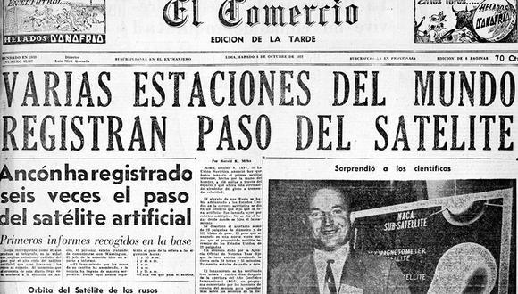El Comercio informó del extraordinario evento en su edición de la tarde del 5 de octubre de 1957. (Foto: GEC Archivo Histórico)