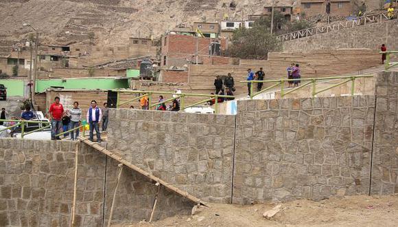 Muros de contención benefician a 4 mil vecinos de Chosica