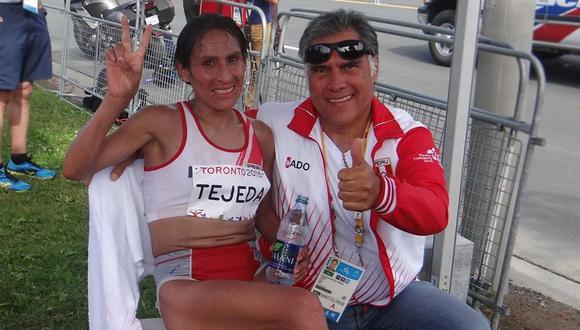 Gladys Tejeda y Pancho Boza ganaron oro en Toronto 2015. (Foto: Team Perú)