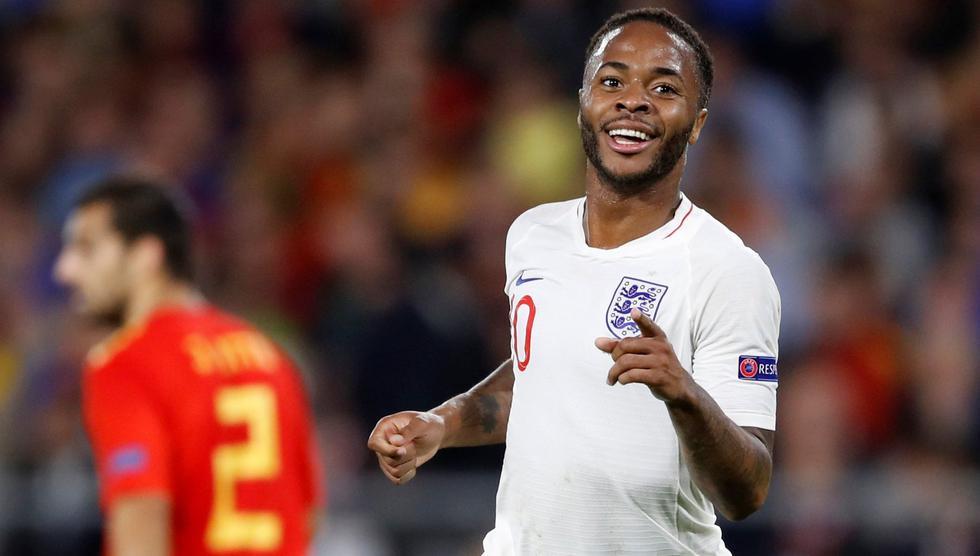 Inglaterra venció 3-2 a España de visita con doblete de Sterling por la UEFA Nations League. (Foto: AFP)