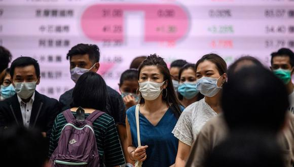 """Hong Kong registra récord diario de contagios de coronavirus y autoridades llaman a """"cancelar todas las salidas inútiles"""" (Foto: Anthony WALLACE / AFP)."""