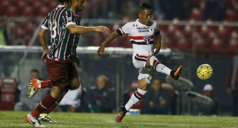 Sao Paulo recibe este domingo (02:00 pm.) al poderoso Fluminense por la décima fecha del campeonato doméstico. El volante nacional Christian Cueva está convocado por Rogerio Ceni. (Foto: Web Sao Paulo)