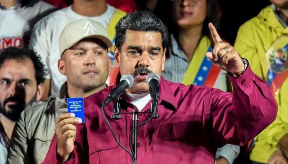 Nicolás Maduro, presidente de Venezuela. (Foto: AFP/Juan Barreto)